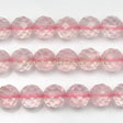ROSE QUARTZ BEADS - FACETED ROUND BEADS 8MM